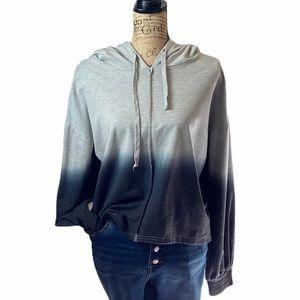 Very j gray long sleeved hoodie